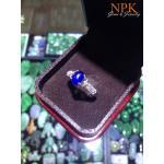 แหวนไพลินพม่า (Blue sapphire gold ring)