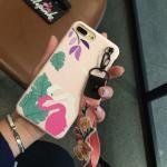 เคส tpu ลายนกฟรามิงโก มีสายคล้องข้อมือ ไอโฟน 6plus/6s plus(ใช้ภาพรุ่นอื่นแทน)-ชมพู-1
