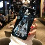 เคส iPhone X พลาสติก TPU สกรีนลายสวยงามมาก สามารถดึงกางออกมาตั้งได้ แบบที่ 8