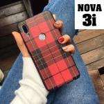 เคส Huawei Nova 3i เคสยางซิลิโคน ทำเป็นลายผ้า ลายสก็อต โดนใจสายวินเทจ สวยๆ แบบที่ 1