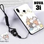 เคส Huawei Nova 3i เคสซิลิโคนลายการ์ตูน น่ารักๆ หลายลาย พร้อมแหวนจับมือถือลายเดียวกับเคส แบบที่ 14
