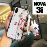 เคส Huawei Nova 3i เคสซิลิโคนพร้อมสายคาด ง่ายต่อการถือใช้งาน ห้อยตุ๊กตาน่ารักๆ แบบที่ 1
