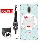 เคส Samsung J7+ (J7 Plus) ซิลิโคน soft case สกรีนลายการ์ตูนพร้อมแหวนและสายคล้อง (รูปแบบแล้วแต่ร้านจีนแถมมา) น่ารักมาก แบบที่ 1
