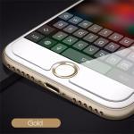 ปุ่มโฮม อลูมิเนียม (สำหรับiPhone/iPad/iPod touch) -ปุ่มขาวขอบทอง