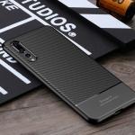 เคส Huawei P20 Pro ยี่ห้อ IPAKY รุ่น Carbon Fiber Texture สีดำ