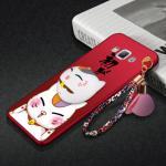 เคส Samsung A8 พลาสติกสกรีนลายการ์ตูนแมวกวักนำโชค Lucky Neko พร้อมที่ตั้งและที่เก็บสายในตัวคุ้มค่ามากๆ แบบที่ 3