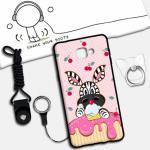 เคส Samsung A9 Pro ซิลิโคน soft case สกรีนลายการ์ตูนน่ารักๆ พร้อมสายคล้องและแหวน แบบที่ 3