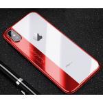 iPhone X tpu ขอบสีโครเมียม-สีแดง