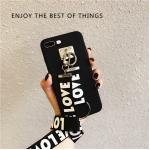 เคส Pc ด้าน +สาย Love Love ไอโฟน 5/5se/5s-สีดำ