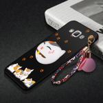 เคส Samsung A8 พลาสติกสกรีนลายการ์ตูนแมวกวักนำโชค Lucky Neko พร้อมที่ตั้งและที่เก็บสายในตัวคุ้มค่ามากๆ แบบที่ 2