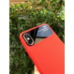 IPhone X เคสนิ่มแต่งขอบบนดำ(ใช้ภาพรุ่นอื่นแทน) -แดง