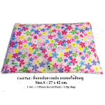 Size.S 27x42cm.+ 3 Ice Gel Packs + 3 Zip Bags (ลายดอกไม้สีชมพู)