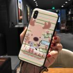 เคส iPhone X พลาสติก TPU สกรีนลายน่ารักมากๆ สามารถดึงกางออกมาตั้งได้ แบบที่ 12