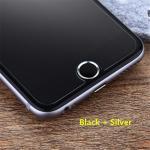 ปุ่มโฮม อลูมิเนียม (สำหรับiPhone/iPad/iPod touch) -ปุ่มดำขอบเงิน