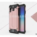 เคส Samsung A8 Star เคสกันกระแทกแยกประกอบ 2 ชิ้น ด้านในเป็นซิลิโคนสีดำ ด้านนอกพลาสติกเคลือบเงาโลหะเมทัลลิค แบบที่ 9