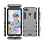 เคส Huawei Y9 (2018) เคสกันกระแทกแยกประกอบ 2 ชิ้น ด้านในเป็นซิลิโคนสีดำ ด้านนอกพลาสติกเคลือบเงาโลหะเมทัลลิค แบบที่ 5