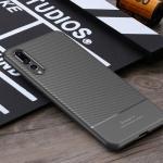 เคส Huawei P20 Pro ยี่ห้อ IPAKY รุ่น Carbon Fiber Texture สีเทา
