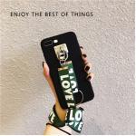 เคส Pc ด้าน +สาย Love Love ไอโฟน 5/5se/5s-เขียว