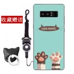 เคส Samsung Note 8 ซิลิโคน soft case สกรีนลายการ์ตูนพร้อมแหวนและสายคล้อง (รูปแบบแล้วแต่ร้านจีนแถมมา) น่ารักมาก แบบที่ 5