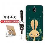 เคส Samsung J7 Pro ซิลิโคน soft case สกรีนลายการ์ตูนพร้อมแหวนและสายคล้อง (รูปแบบแล้วแต่ร้านจีนแถมมา) น่ารักมาก แบบที่ 7