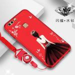เคส Huawei P9 รุ่น Princess สีแดง#3