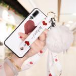 เคส Huawei P20 ซิลิโคนสกรีนลายหัวใจ พร้อมสายคล้องมือ สวยงามมาก แบบที่ 1