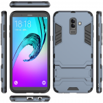 เคส Samsung J8 2018 เคสกันกระแทก 2 ชั้น TPU + PC มีขาตั้งกาง-หุบได้ เท่ๆ แบบที่ 2