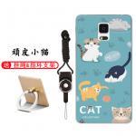 เคส Samsung Note 4 ซิลิโคน soft case สกรีนลายการ์ตูนพร้อมแหวนและสายคล้อง (รูปแบบแล้วแต่ร้านจีนแถมมา) น่ารักมาก แบบที่ 3