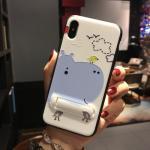 เคส iPhone X พลาสติก TPU สกรีนลายน่ารักมากๆ สามารถดึงกางออกมาตั้งได้ แบบที่ 7