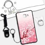 เคส Samsung A9 Pro ซิลิโคน soft case สกรีนลายการ์ตูนน่ารักๆ พร้อมสายคล้องและแหวน แบบที่ 6