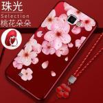 เคส Samsung Note 2 ซิลิโคนแบบนิ่ม สกรีนลายดอกไม้ สวยงามมากพร้อมสายคล้องมือ แบบที่ 3