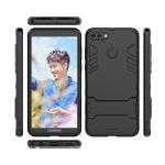 เคส Huawei Y9 (2018) เคสกันกระแทกแยกประกอบ 2 ชิ้น ด้านในเป็นซิลิโคนสีดำ ด้านนอกพลาสติกเคลือบเงาโลหะเมทัลลิค แบบที่ 7