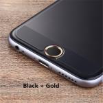 ปุ่มโฮม อลูมิเนียม (สำหรับiPhone/iPad/iPod touch) -ปุ่มดำขอบทอง