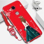เคส Huawei GR5 2016 ลายผู้หญิง สีแดง#2