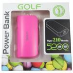 Power Bank Golf 5200 mAh Tiger 210 - สีชมพู
