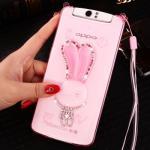 เคส OPPO N1 ซิลิโคน soft case กระต่ายน้อยประดับคริสตัล น่ารักมาก แบบที่ 1
