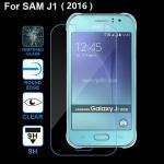 เคส SAMSUNG Galaxy J1 2016 ฟิล์มกระจกนิรภัยป้องกันหน้าจอ 9H Tempered Glass 2.5D (ขอบโค้งมน) HD Anti-fingerprint แบบที่ 1