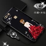 เคส Huawei P9 รุ่น Princess สีดำ#1