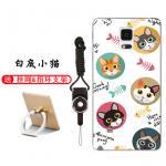 เคส Samsung Note 4 ซิลิโคน soft case สกรีนลายการ์ตูนพร้อมแหวนและสายคล้อง (รูปแบบแล้วแต่ร้านจีนแถมมา) น่ารักมาก แบบที่ 10