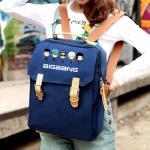 กระเป๋าสะพาย / เป้ทรงเหลี่ยม BIGBANG (สีน้ำเงิน)