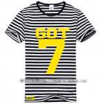 เสื้อยืดลายขวาง GOT7 - Love Train (สีดำ)