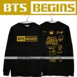 เสื้อแขนยาวกันหนาว BTS - BEGINS (สีดำ)