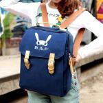 กระเป๋าสะพาย / เป้ทรงเหลี่ยม B.A.P (สีน้ำเงิน)