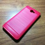 เคสนิ่ม TPU รุ่น Huawei Y7 2017 ลายคาร์บอนเคฟล่า สีแดง