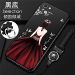 เคส OPPO A83 รุ่น Princess (ไม่รวมแหวน) สีดำ#3
