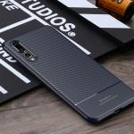 เคส Huawei P20 Pro ยี่ห้อ IPAKY รุ่น Carbon Fiber Texture สีน้ำเงิน