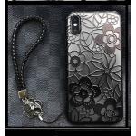 ไอโฟน 6/6s 4.7นิ้ว เคสลายลูกไม้มีสายคล้องข้อมือ(ใช้ภาพรุ่นอื่นแทน)-สีดำ