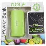 Power Bank Golf 5200 mAh Tiger 210 - สีเขียว