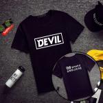 เสื้อยืด SJ SUPER JUNIOR Devil สีดำ - XXL