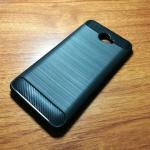 เคสนิ่ม TPU รุ่น Huawei Y7 2017 ลายคาร์บอนเคฟล่า สีดำ